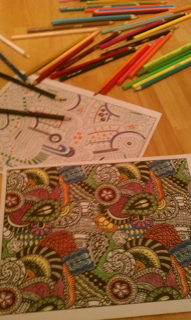 Adult coloring - a pastime in which I should more often indulge.